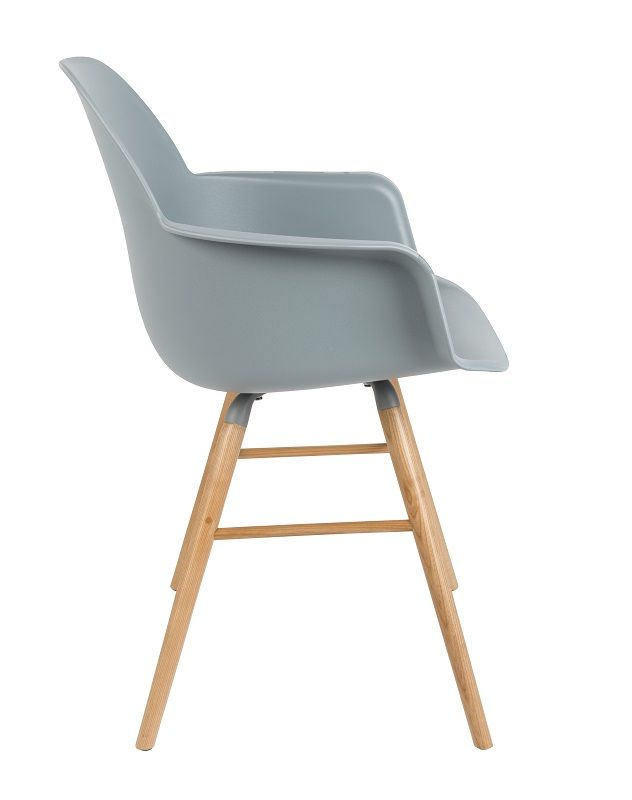 Zuiver - Albert Kuip Spisebordsstol armlæn - Grå - Spisebordsstol med armlæn