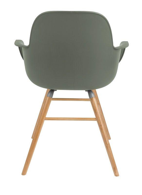 Zuiver Albert Kuip Spisebordsstol armlæn - Grøn - Grønn spisestol med armlener