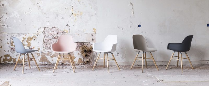 Zuiver Albert Kuip Spisebordsstol armlæn - Hvid