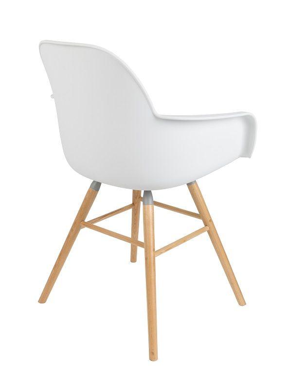 Zuiver Albert Kuip Spisebordsstol armlæn - Hvid - Hvit spisestol m/armlener