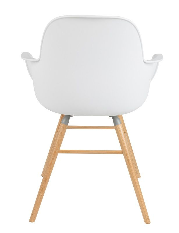 Zuiver Albert Kuip Spisebordsstol m/armlæn - Spisebordsstol m/armlæn i hvid