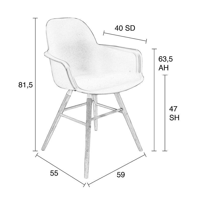 Zuiver - Albert Kuip Spisebordsstol armlæn - Taupe