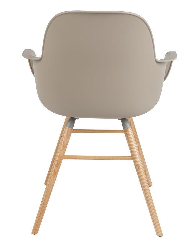 Zuiver Albert Kuip Spisebordsstol armlæn - Taupe - Spisestuestol m/armlener i taupe