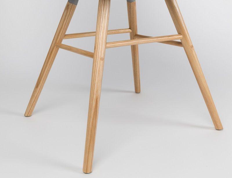 Zuiver - Albert Kuip Spisebordsstol armlæn - Taupe - Spisebordsstol med armlæn