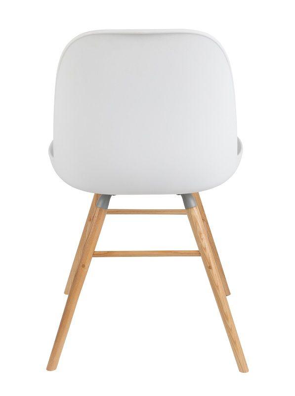 Zuiver - Albert Kuip Spisebordsstol - Hvid plast - Spisestuestol med træben