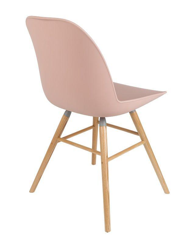Zuiver - Albert Kuip Spisebordsstol - Rosa - Skalstol med ben i ask