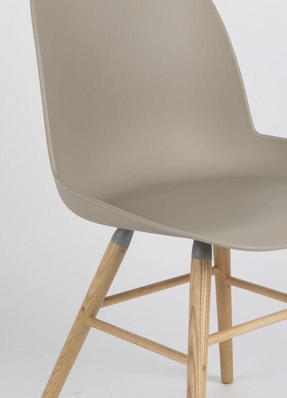 Zuiver - Albert Kuip Spisebordsstol - Taupe - Skalstol i plastic