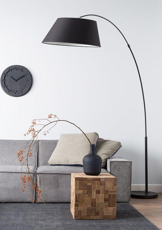 Zuiver Arc Gulvlampe - Sort - Svart metallisk gulvlampe