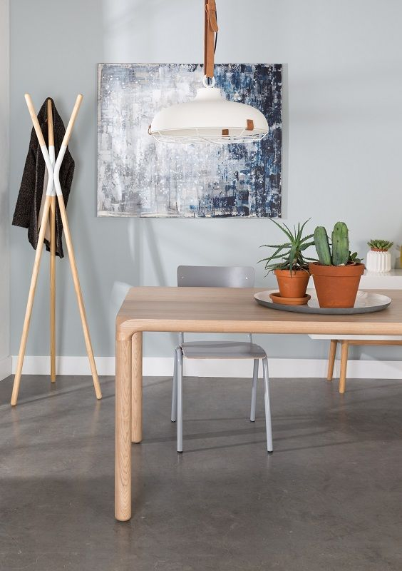 Zuiver Back to School Spisebordsstol - 4 spisebordsstole i grå finer
