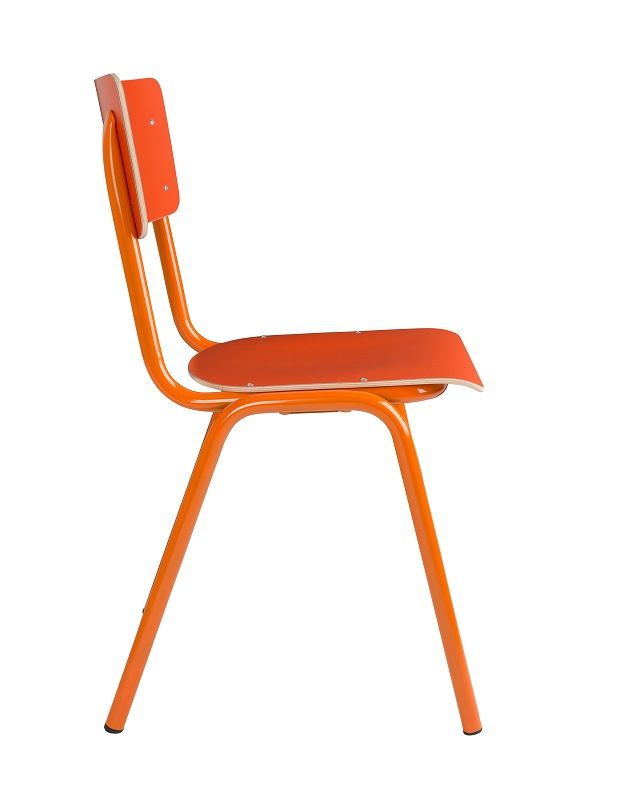 Zuiver - Back to School Stabelstol - Orange - Orange stabelstol i krydsfiner