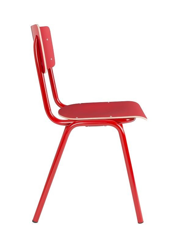 Zuiver - Back to School Stabelstol - Rød - Rød stabelstol i krydsfiner