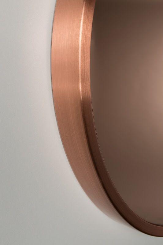 Zuiver Bandit Spejl - Kobber - Rundt speil med kobberkant