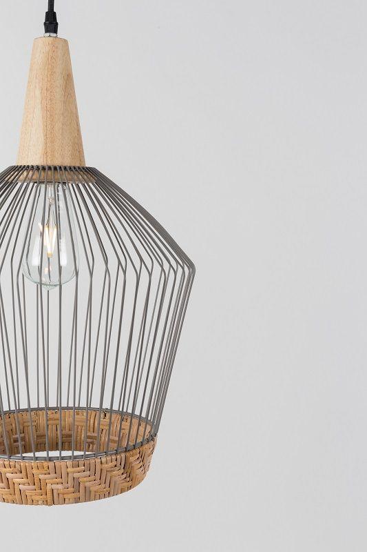 Zuiver Birdy Long Pendel - Rattan