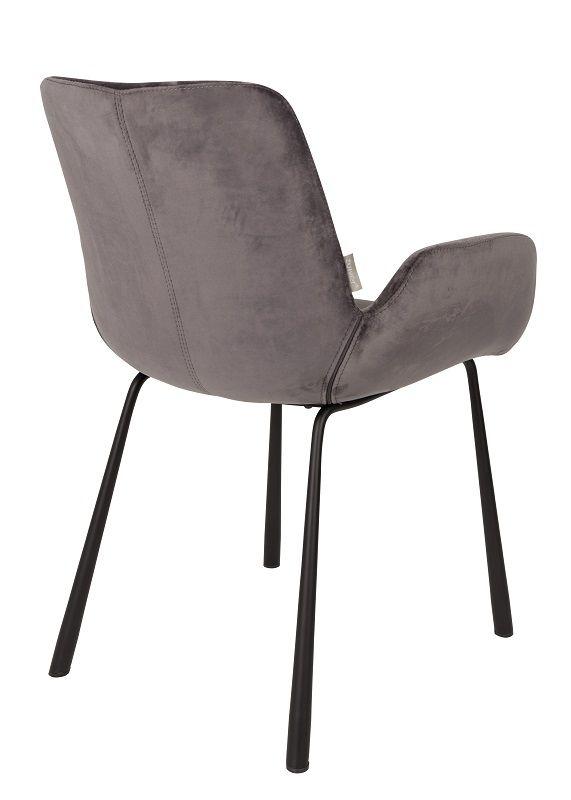 Zuiver Brit Spisebordsstol m/armlæn - Mørk grå