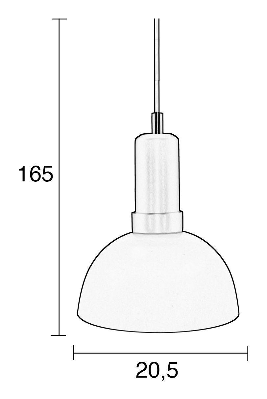 Zuiver Charlie Loftlampe - Brun/Sort