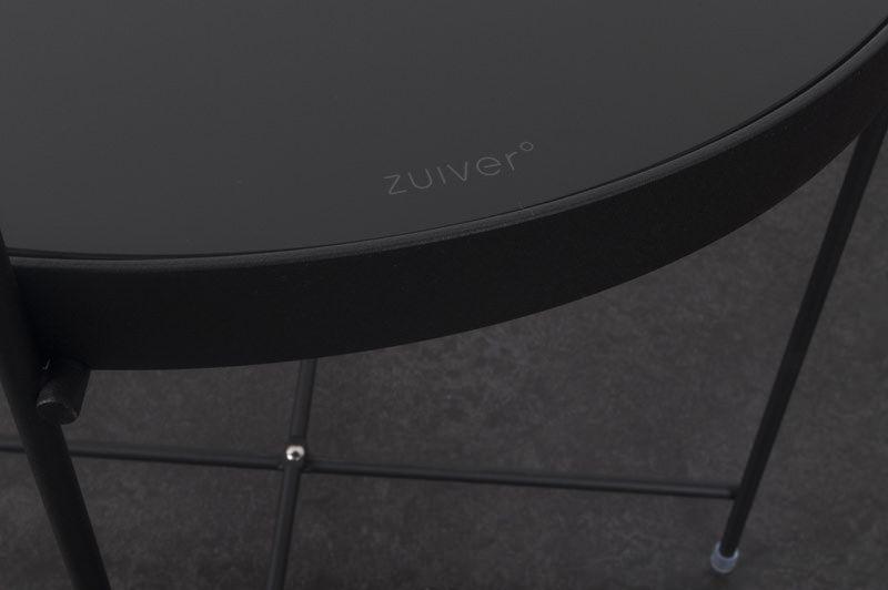 Zuiver - Cupid Bakkebord - Sort - Ø42 - Elegant og klassisk bakkebord i sort metal