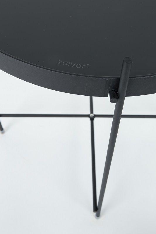 Zuiver Cupid Bakkebord - Sort - Ø43 - Elegant og klassisk bakkebord i svart metall