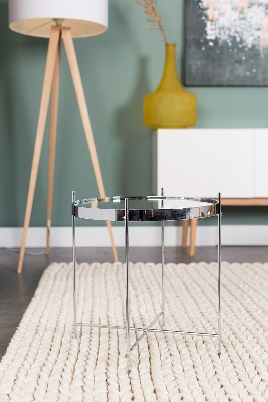 Zuiver - Cupid Sidebord - Sølv - Elegant og klassisk bakkebord i sølvfarvet metal