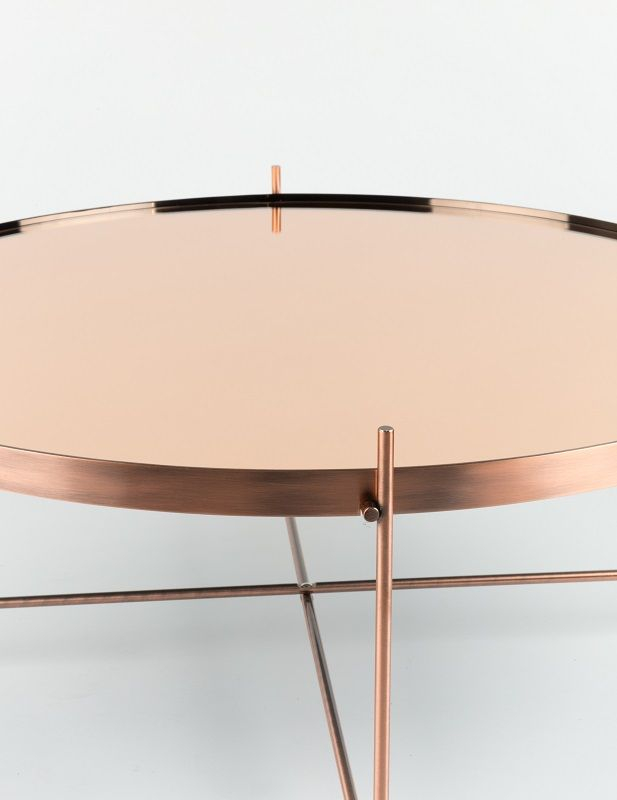 Zuiver Cupid Sofabord - Kobber - Ø62,5 - Rundt kobberbord - lille