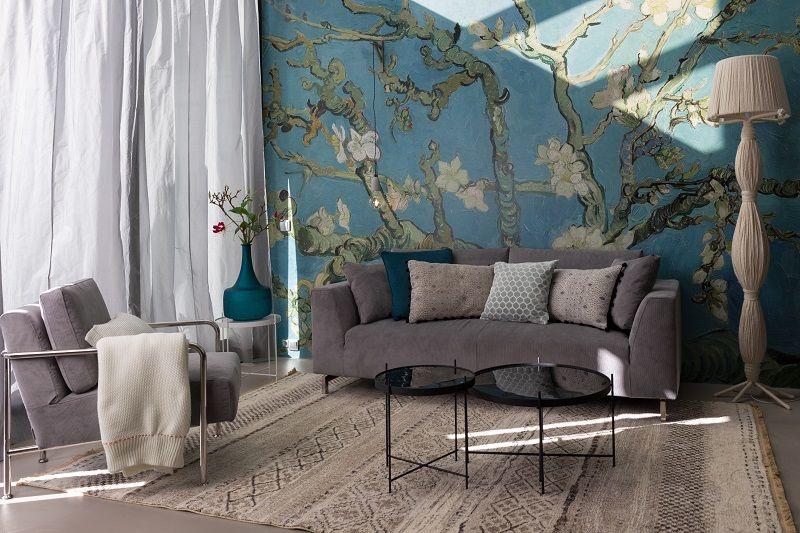 Zuiver - Cupid Sofabord- Sort - Ø82,5 - Sort sofabord med glasplade
