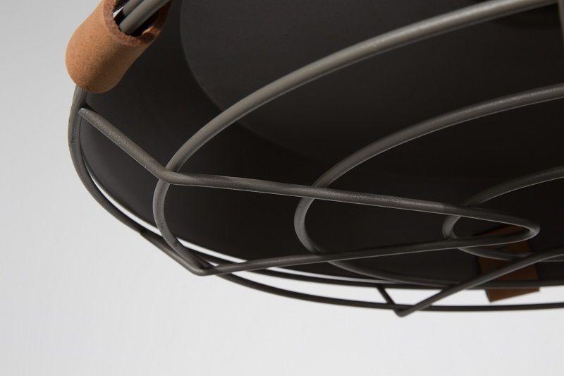 Zuiver - Dek 40 Pendel - Stål grå - Pendel i grå med læderrem