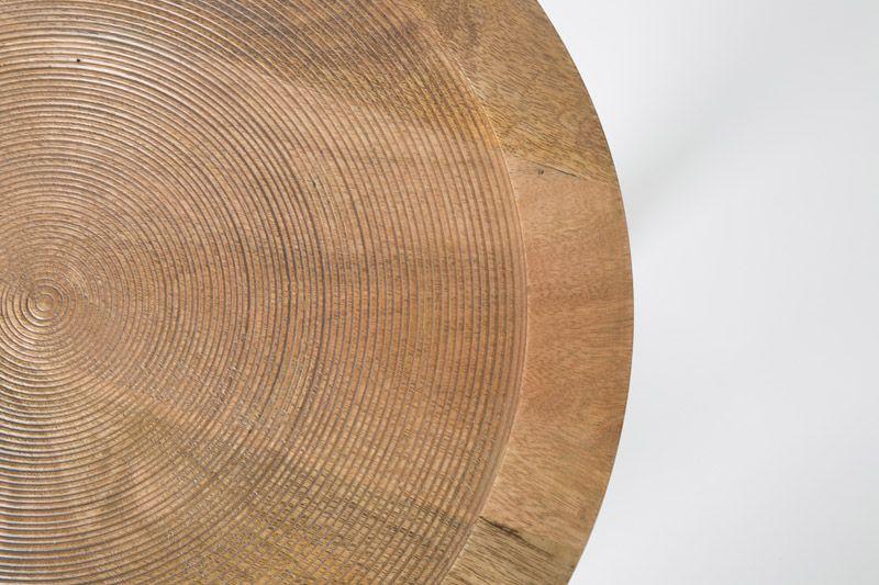 Zuiver - Dendron Sidebord - mangotræ - Ø43 - Sidebord i natur