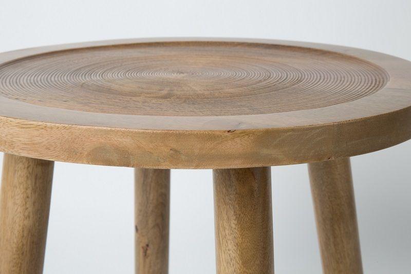 Zuiver Dendron Sidebord - mangotræ - Ø60 - Sidebord i naturtre