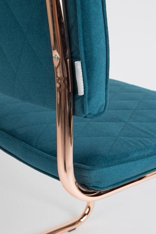 Zuiver - Diamond Spisebordsstol - Blå - Mørkegrøn spisestol