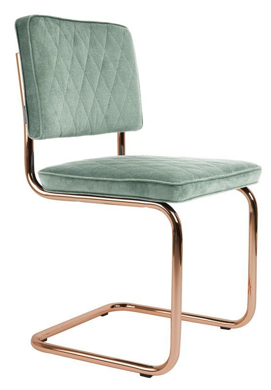 Friske spisebordsstole i grøn - Gratis fragt