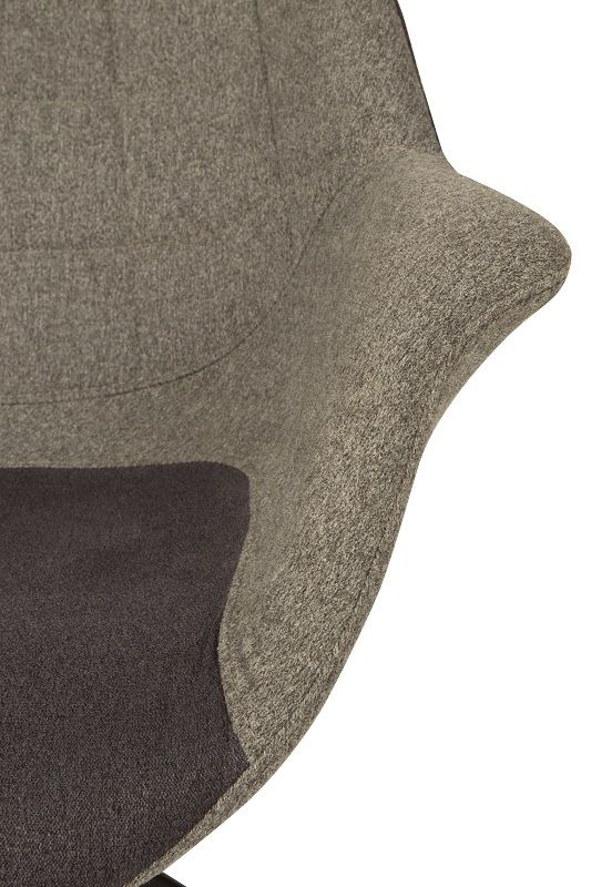 Zuiver Doulton Spisebordsstol - Grå - Grå spisestol med armlener