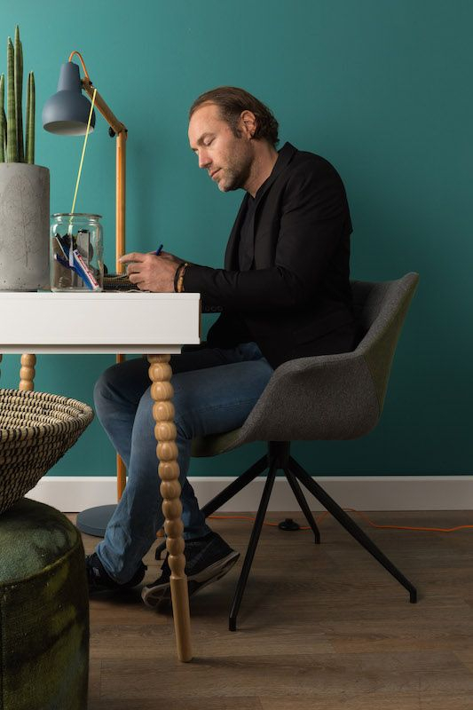 Zuiver - Doulton Spisebordsstol - Grøn - Grøn spisebordsstol med arnlæn