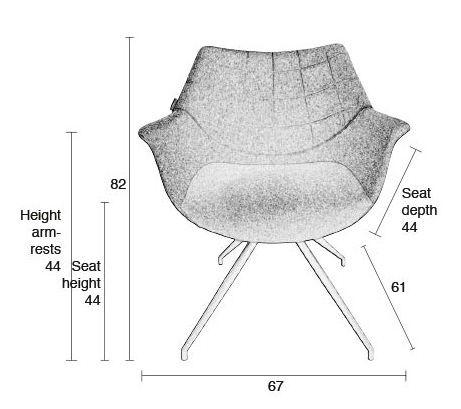 Zuiver Doulton Spisebordsstol - Grøn - Grønn spisestol med armlener