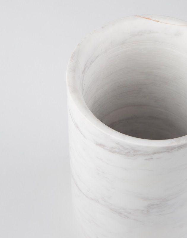 Zuiver Fajen Vase - Hvid marmor - Hvit marmorvase