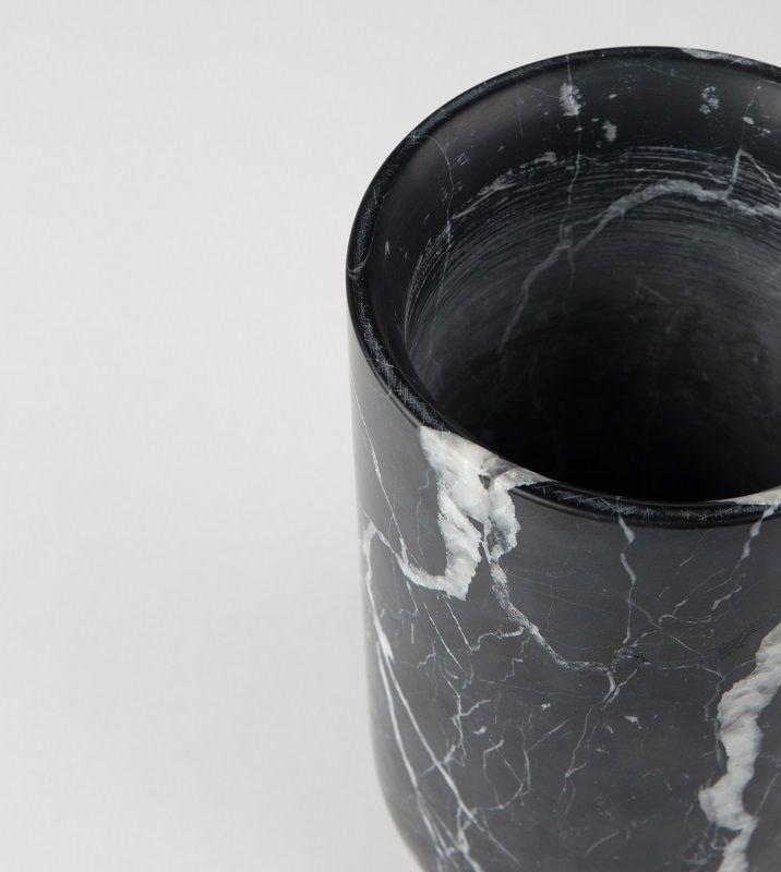 Zuiver Fajen Vase - Sort marmor - Sort marmorvase