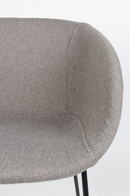 Zuiver Feston Spisebordsstol - Grå stof