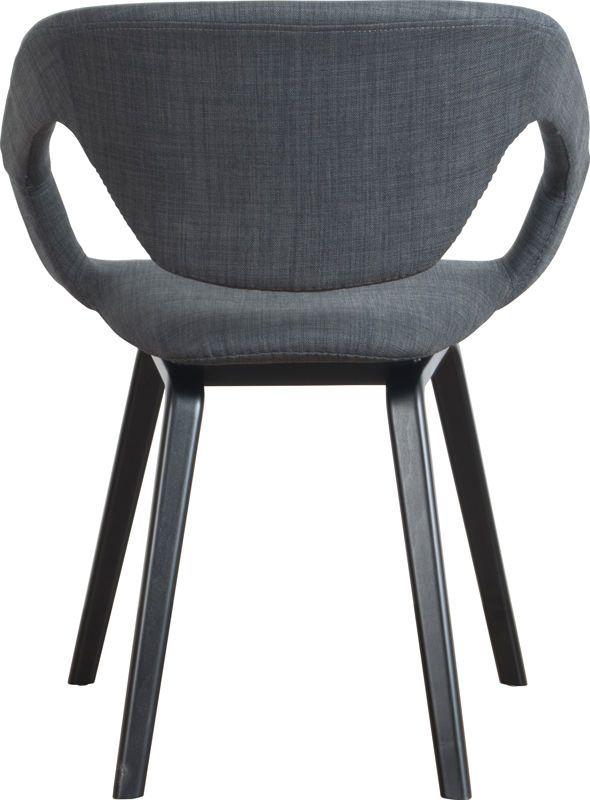 Zuiver Flex Back Spisebordsstol, Grå m. Sort ben - Design stol med fantastisk sittekomfort i mørkegrå