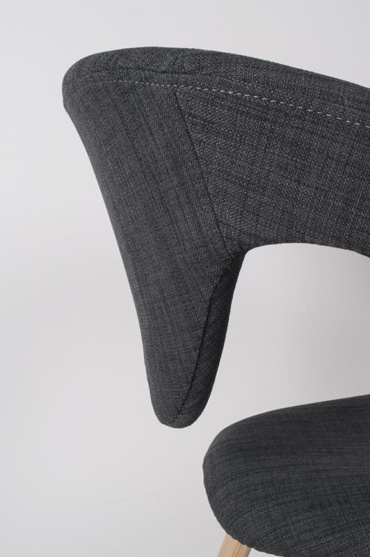 Zuiver - Flex Back Spisebordsstol - Grå - Design stol med fantastisk siddekomfort i mørkegrå