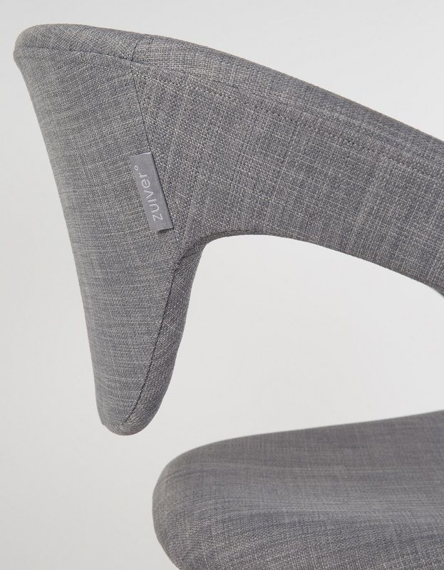 Zuiver Flex Back Spisebordsstol - Grå - Spisebordsstol i grå