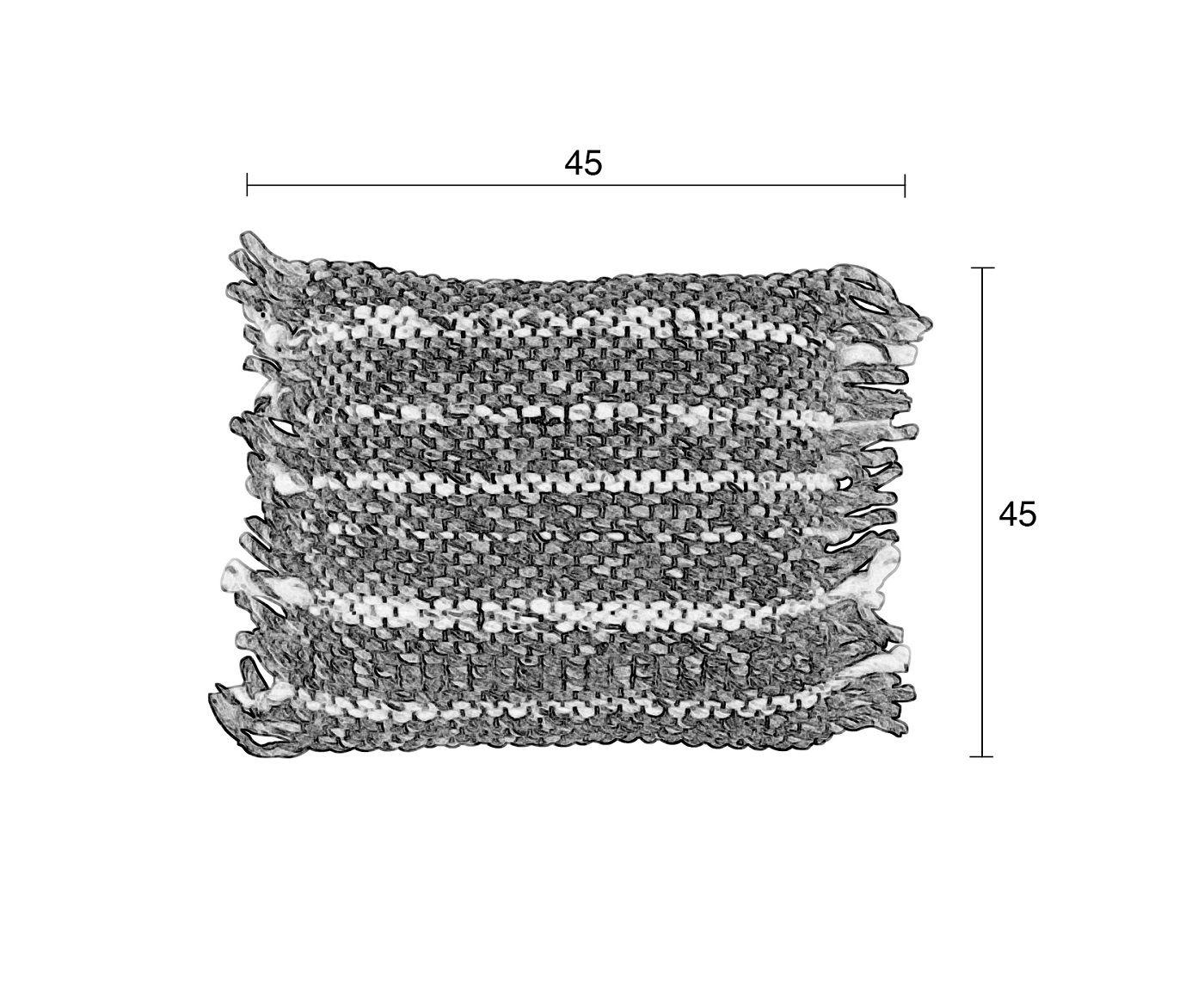 Zuiver Frills Pude - Beige/Gul, 45x45