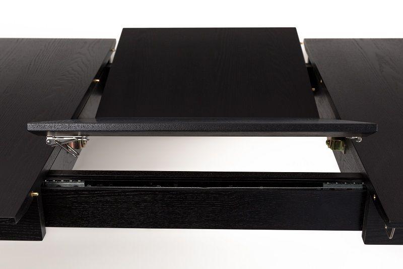 Zuiver Glimps Spisebord - Sort, Butterfly udtræk 120x60