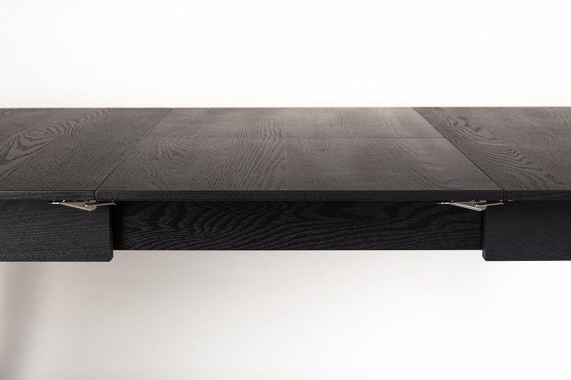 Zuiver Glimps Spisebord - Sort, Butterfly udtræk 120x60 - Med butterfly forlengelse