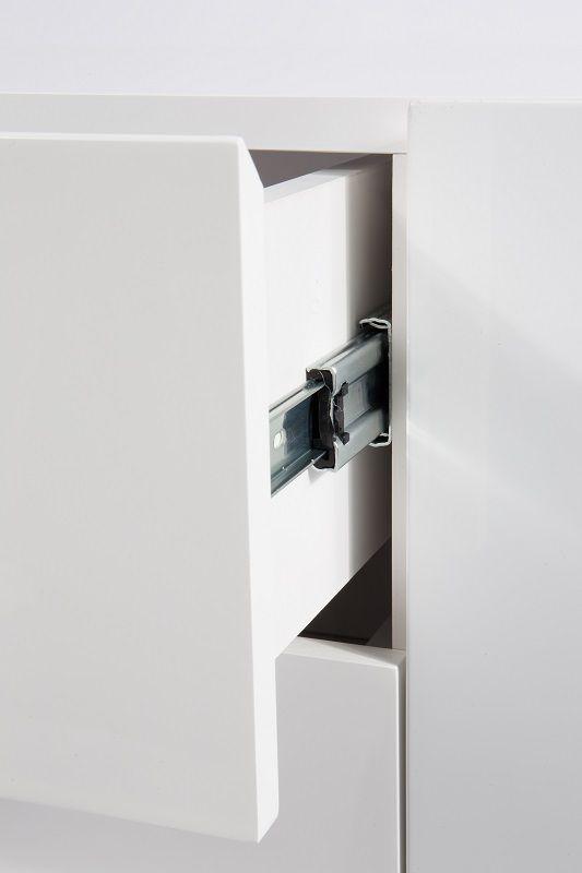 Zuiver - High On Wood Skænk - Hvid - B:120 - Skænk i klassisk design med egetræsben