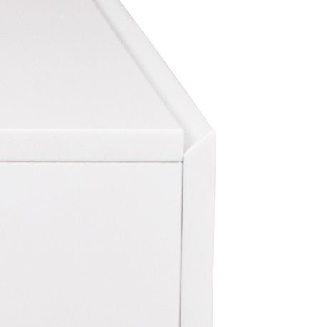 Zuiver High On Wood Skænk - Hvid - B:160 - Skjenk i klassisk design med moderne hvit høyglans og eiketrebein