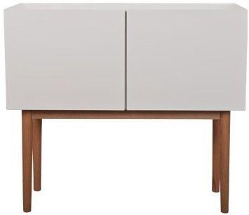Zuiver High On Wood Skænk - Hvid - B:90 - Skjenk i klassisk design med moderne hvit høyglans og eiketrebein