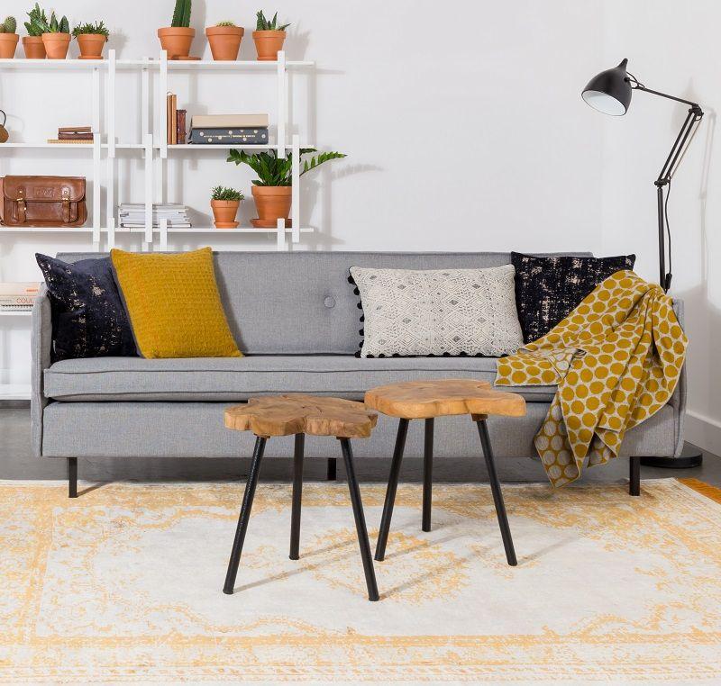 Zuiver Jaey 2-personers Sofa - Lysegrå - Elegant 2-personers sofa