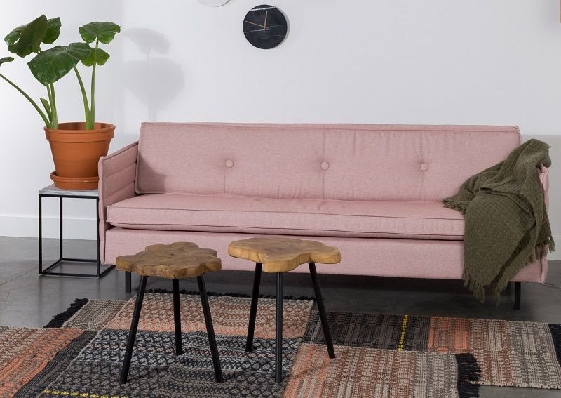 Zuiver Jaey 2-pers. sofa - Lyserød - Elegant 2-seter sofa