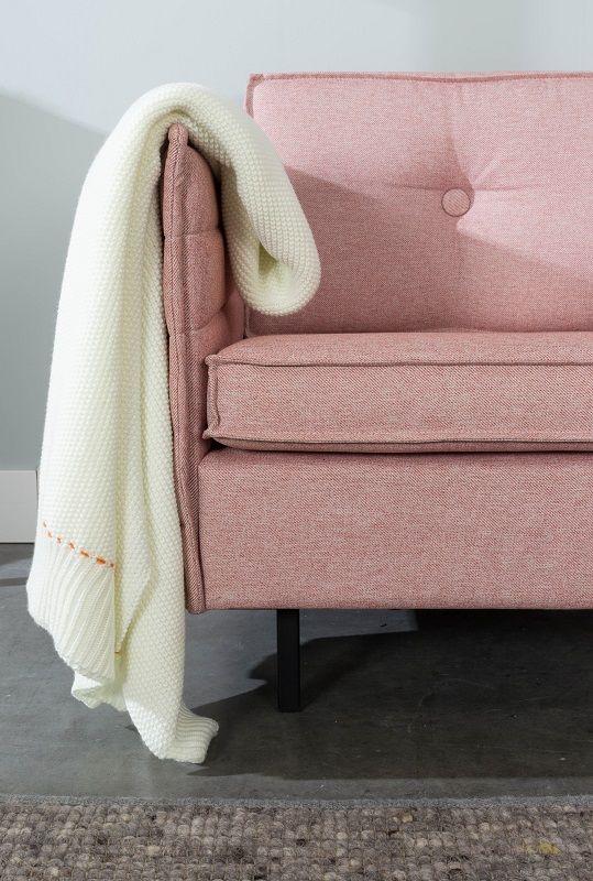 Zuiver - Jaey 2-pers. sofa - Lyserød - Elegant 2-personers sofa