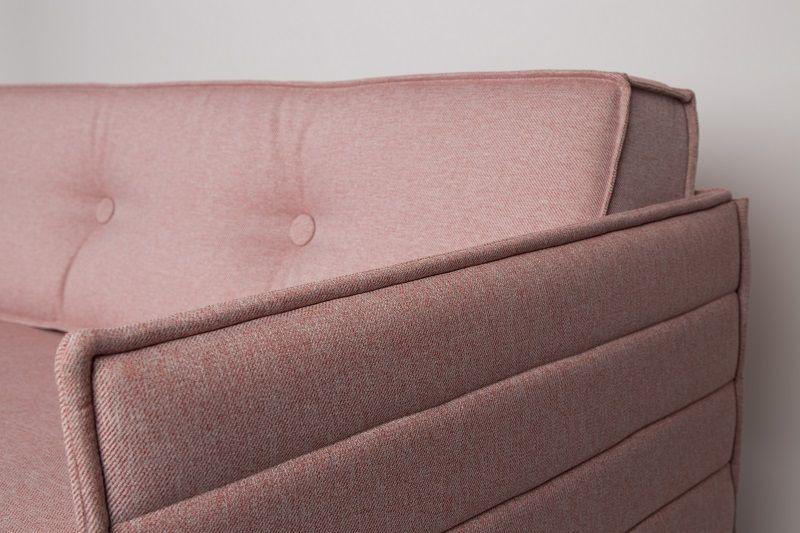 Zuiver Jaey 3-personers Sofa - Lyserød - Elegant 3-personers sofa