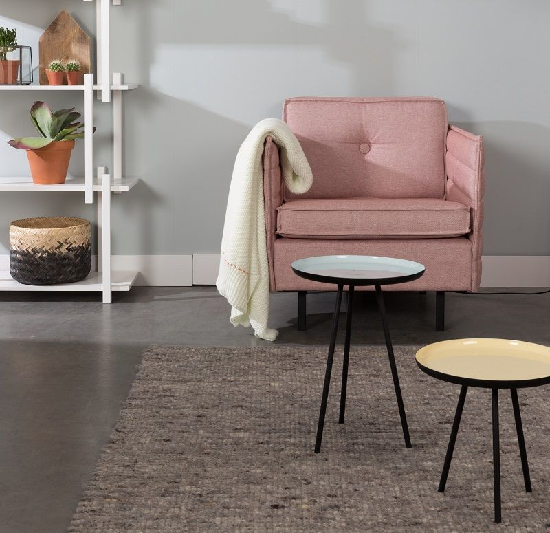 Zuiver Jaey 3-pers. sofa - Lyserød - Elegant 3-seters sofa