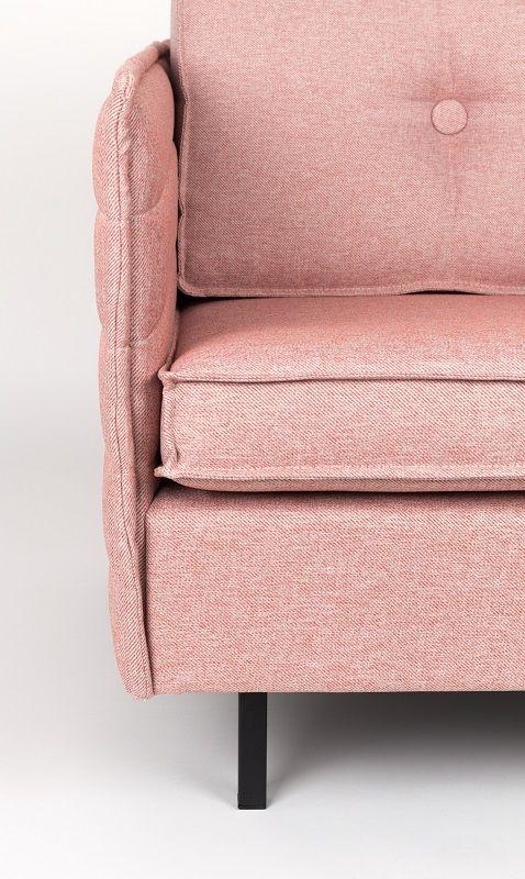 Zuiver - Jaey Loungestol - Lyserød - Komfortabel loungestol